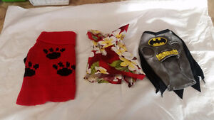 Assorted Sweaters, Costumes, Hoodies, Harnesses for XS to S Dog