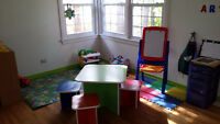 Morning/early afternoon child care available