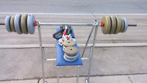 Weight set all for $30
