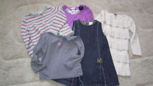 Girl clothes + 2 new tights and shoes 18-24 months