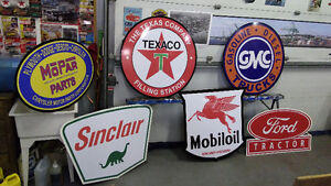 LARGE GASOLINE AND EQUIPMENT SIGNS