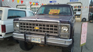 79 Chev 4x4 stepside + Variety of old trucks for sale!