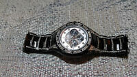 black diamond studded bulova watch