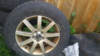 235/65/17 Gisvald Tires and Volvo RIMS