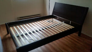 IKEA NYVOLL Bed frame and HANSBO Mattress (Queen)
