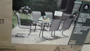 NEW IN BOX 7 PC PATIO SET