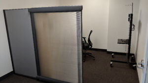 Sliding Glass Wall Partition and Privacy Wall