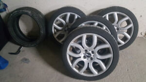 """Mini cooper 17"""" Alloy Rims with 1 month old all season tires"""