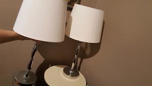 Set of Modern Chrome Lamps