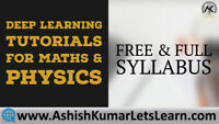 Deep Learning Tutorials for Maths & Physics