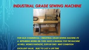 NEW PRICE     MITSUBISHI model DB130GM industrial sewing machine