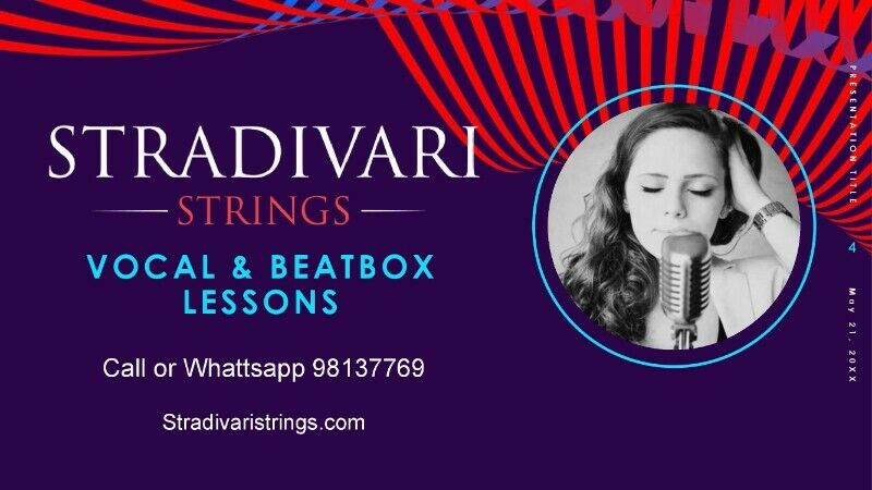 Beat boxing lessons, Vocal lessons, Music lessons