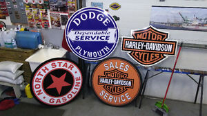 LARGTE NORTON TRIUMPH HARLEY INDIAN AND BSA SIGNS