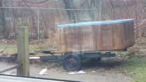 Trailer and Hot Tub