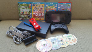 Black Wii U 32GB w/ Games and Extras