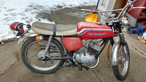 Great little project 1972 2 stroke Kawasaki 90