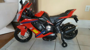 Ride-On Sport Bike, Police Trike, 6 Volt, Toys, Plays Music etc