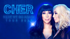 CHER  2- Floor Seats Rogers Arena Vancouver May 30 $350