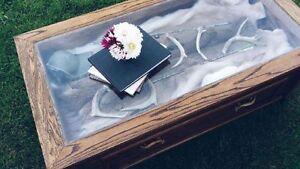 Custom oak coffee table with matching end tables Oakville / Halton Region Toronto (GTA) image 1