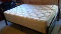 Queen Bed, Mattress and Box for sale!