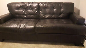 Black Leather Sofa *Excellent condition*