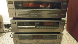 Vintage JVC 3 unit digital audio video home theatre system