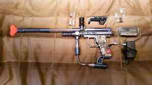 Spyder paintball marker with spring kit and charger