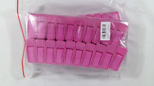 NEW 20 Pack Pink Baby Hangers Clips Plastic Garment Clothing