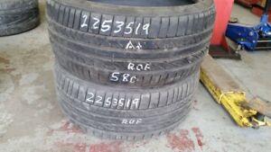 Pair of 2 Bridgestone Potenza RE050 (run-flat) 225/35R19 tires (