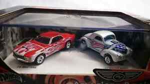 HOT WHEELS DIE CAST AMERICAN RACING 70 MUSTANG 41 WILLYS COUPE