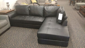 Italian Bonded Leather Sectional