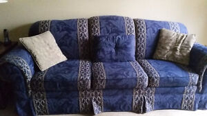 BEAUTIFUL ROLLED ARM SOFA & MATCHING CHAIR