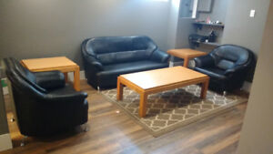 6 PC living room set!! Couch, chairs, tables asking only $200