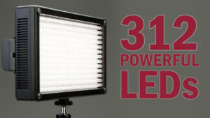 NEW LUMAHAWK LD312AS ON-CAMERA LED with 2 battery and charger