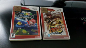 Popular Mario Games Wii Nintendo Select.  CIB