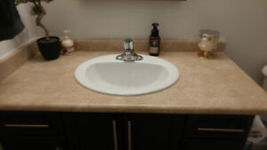 Complete Bathroom Sink/Faucet/Countertop (2)