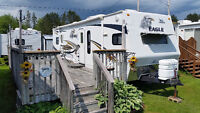 2008 Jayco Eagle 32' Trailer @ Deck in Scotia Pine Campground