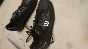 Mens soccer cleats size 10. Wilson.hardly used.