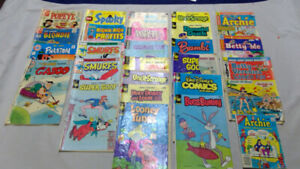 lot of disney and various cartoon vintage comic books