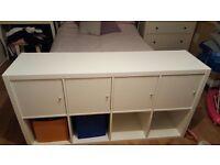 White 4 Door storage unit