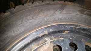 4 Goodyear Nordic Winter Tires W/Rims Regina Regina Area image 3