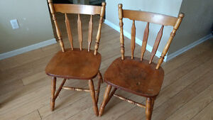 Set of two wooden chairs! Must go!