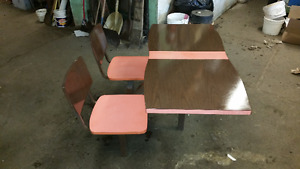 Vintage Restaurant seating and tables