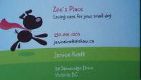 Zoe`s Place Pet Care