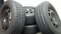 (4) 5X100 Rims with 195/65/15 Tires from VW Golf