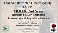 Dual Firearms Licence Course PAL/RPAL