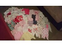 Newborn and 0-3 bundle of girls clothes