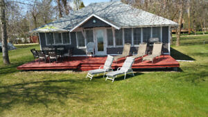 Lakefront/waterfront cottage rent/rental at Wpg beach MB