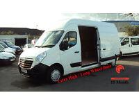 2012 VAUXHALL MOVANO 2.3CDTI 16v 100ps Euro V L3H3 LWB 3500 DIESEL WHITE VAN