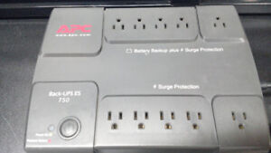 APC Back-UPS ES 750 battery backup surge protection